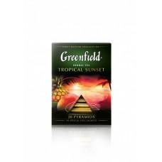 Чай в пирамидках Greenfield Tropical Sunset (Гринфилд Тропикал Сансет), 20*1,8 г